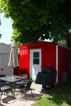 Private patio area with bbq and propane provided for your stay